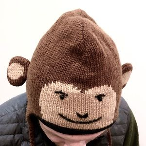 Delux Adult Size Knit Monkey Hat / Beanie / Toque